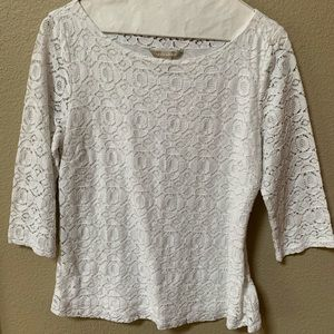 Banana Republic 3/4 Lace Blouse